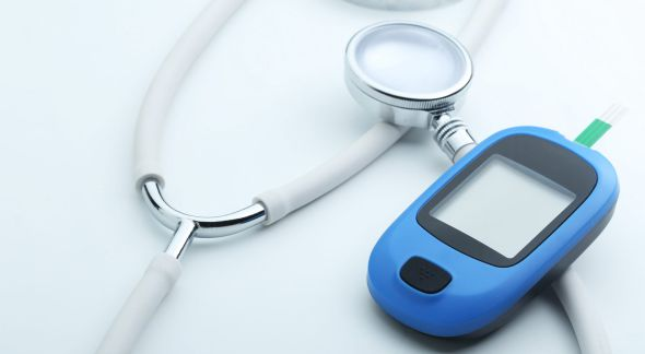 Stethoscope and blood glucose meter